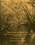 Three sites on Sandy Run : phase II evaluation of sites 9Cam183, 184, and 185 at Kings Bay, Georgia