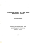 Archaeological testing of the Cedine Mound, Rhea County, Tennessee