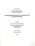 Archaeological monitoring of construction of the Tennessee Riverpark