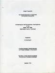 Archaeological and documentary investigations of the Kyker Mill Dam, Washington County, Tennessee : a report