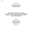 A preliminary archaeological assessment of State Route 8, from State Route 29 to State Route 27, Hamilton County; archaeological input for a TDOT advance planning report