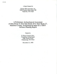 A preliminary archaeological assessment of State Route 8, from State Route 27 to Palisades Drive, Hamilton County : archaeological input for a TDOT advance planning report by R. Bruce Council