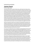Joanne Favors biographical sketch