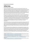 Willie Ricks Biographical Narrative